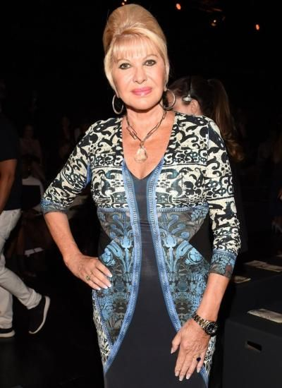 Ivana Trump attends Dennis Basso Spring 2016 during New York Fashion Week.