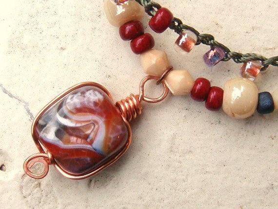 Fire Agate Bracelet by TamiLopezDesigns on Etsy, $32.00: Fire Agates, Necklaces Inspiration, Agates Bracelets