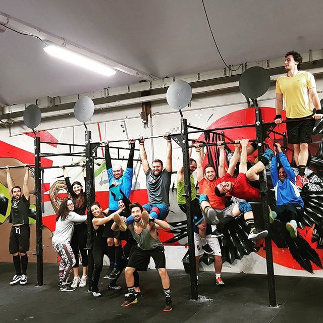 """2018.02.06 --------------- SKILL  - Clean Every 90"""" x 8 sets: 2 Squat Clean (Find your 2RM of the day) --------------- WOD  5 RFT: 10 Cleans (60/40kg) 7 Strict HSPU 15 Box Jump Overs (60/50cm) --------------- #mutinacrossfit #crossfit #workout #conditioning #metabolic #endurance #weightlifting #gymnastics #barbells #strength #skills #xeniosusa #roguefitness #strengthshop #supportyourlocalbox #crossfitgames #crossfitaffiliate"""