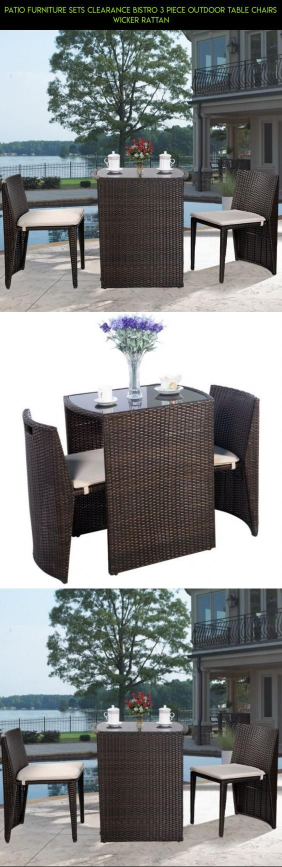 Patio Furniture Sets Clearance Bistro 3 Piece Outdoor Table Chairs Wicker  Rattan #products #3