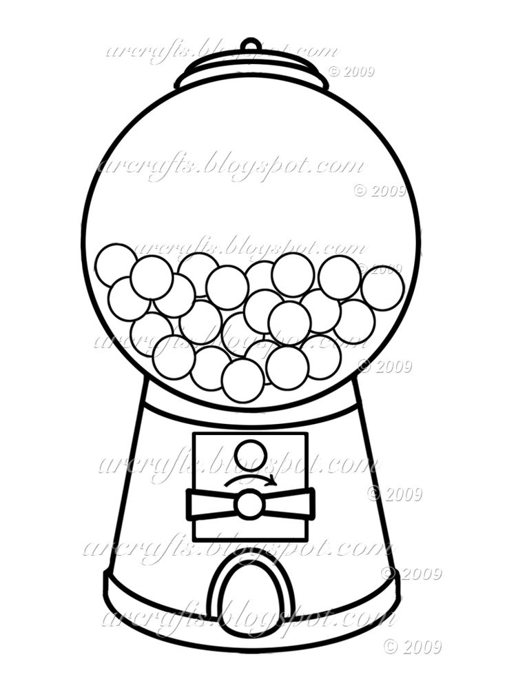 It's just a picture of Exceptional Gumball Machine Printable