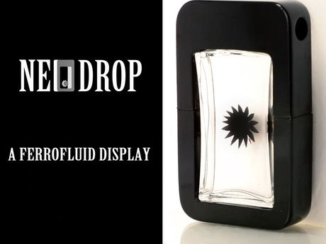 NeoDrop is an interactive ferrofluid display that is able to visualize magnetic…