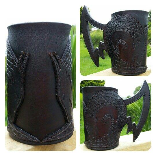 Dragon leather tankard