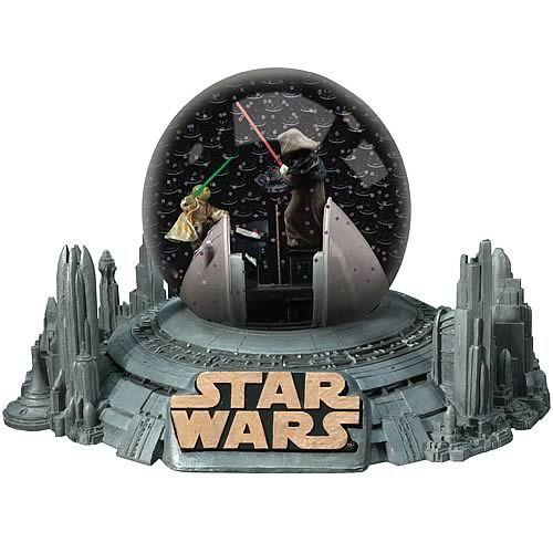 star wars snow globes   Wars Yoda vs. Darth Sidious Water Globe - Encore - Star Wars - Snow ...