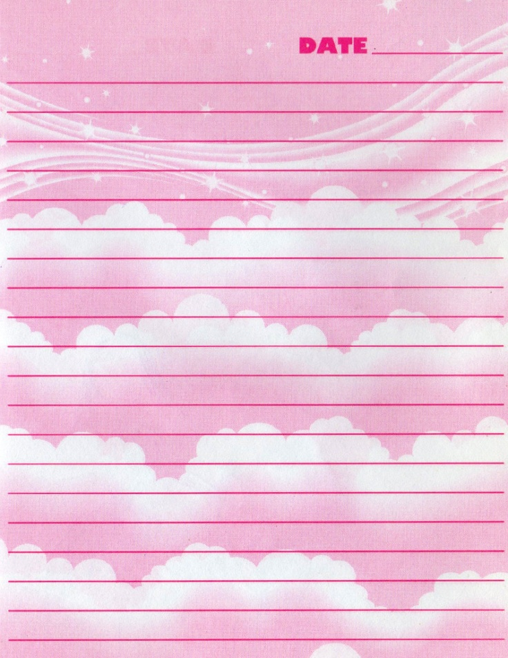 260 best Lined Stationery images on Pinterest Writing paper - lined stationary template