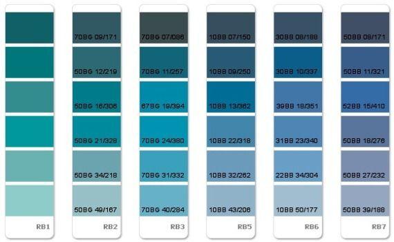 barvy na zeď vzorník modrá - Hledat Googlem