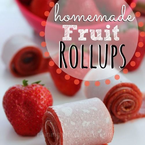 Homemade Fruit Roll-ups from Raining Hot Coupons and Creative and Easy First Day of School Snacks on Frugal Coupon Living.