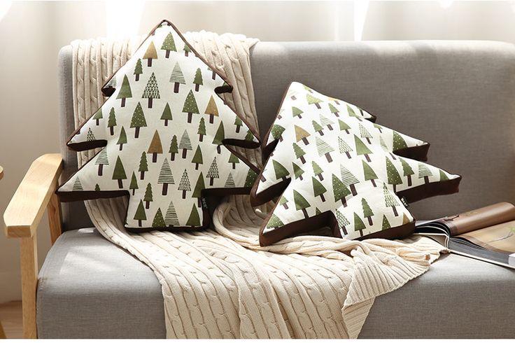 Aliexpress.com: Comprar Árbol de Navidad creativo Bosque Silla Lumbar Cojín de Algodón de Lino Throw Pillow Oficina Sofá cojín del Asiento de Coche Almohada Decorativa de silla de oficina cojín del asiento fiable proveedores en Factory Carpet