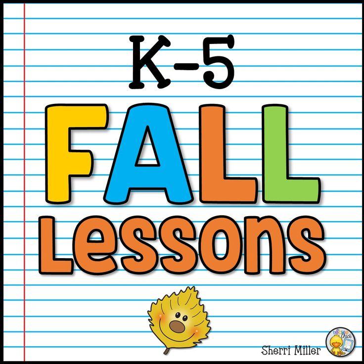 A collaborative K-5 fall seasonal lessons for elementary educators