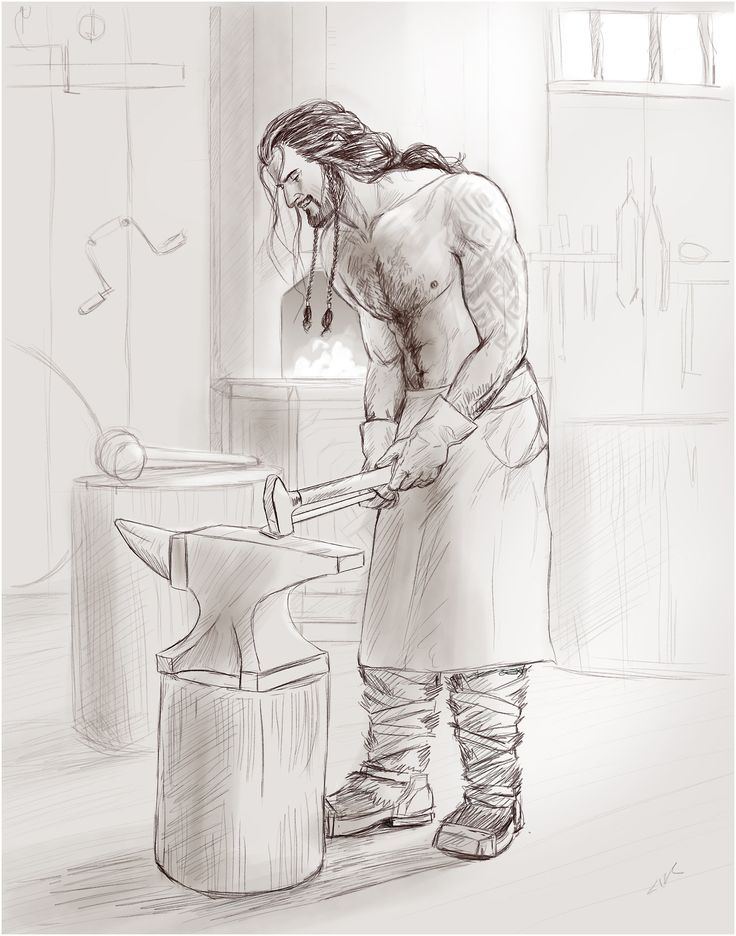 Thorin in the forge