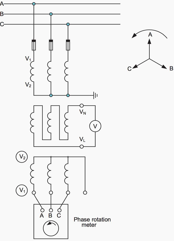 voltage transformer phasing check