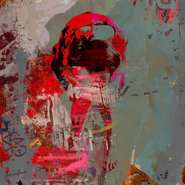 "Artist: Hossam Dirar; Paint 2012 Painting ""It Wasn't My Story"""