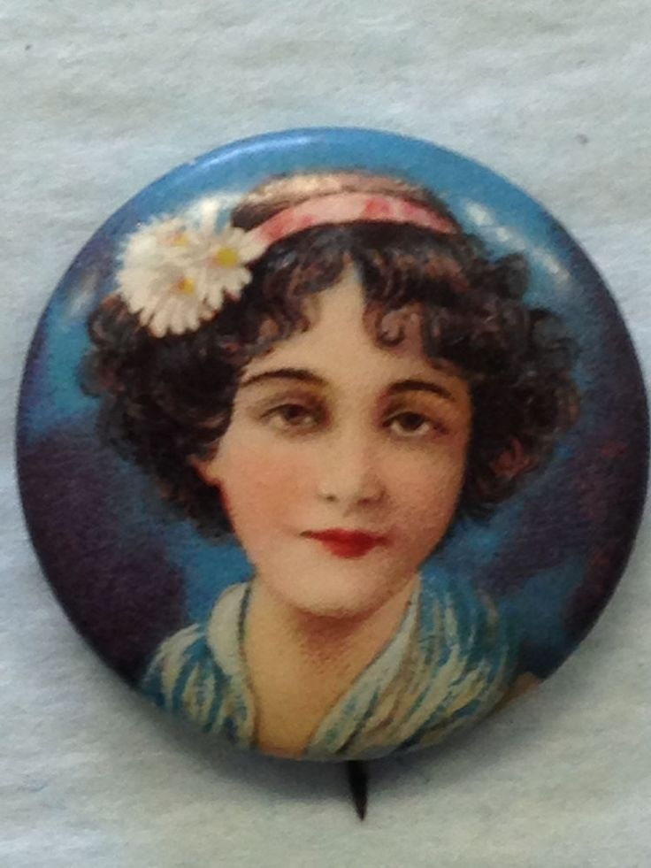 THE PERFECTION CIGARETTES PRETTY LADY ADVERTISING PIN BACK BUTTON #ThePerfection