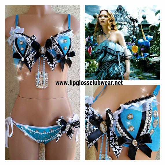Alice in Wonderland Inspired Outfit Rave Wear by LipglossWear