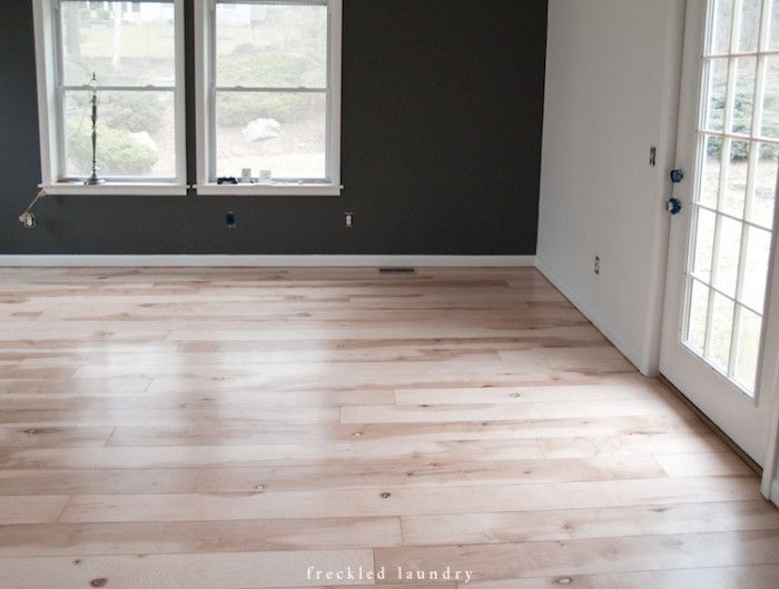 Plywood plank flooring for a fraction of the cost of hardwood. Great DIY instructions. Also a whitewash idea in the comment section.