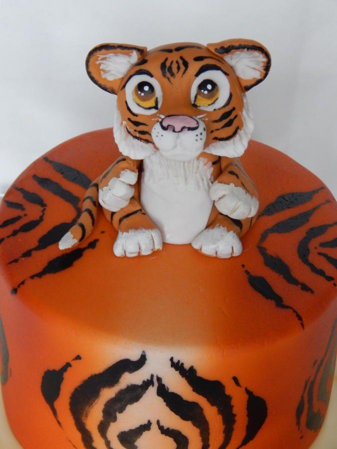 Little Tiger cake by Elizabeth Miles Cake Design
