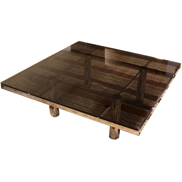 Mid-Century Modern Tobia Scarpa Knoll Andre Chrome Smoked Glass Coffee Table 1
