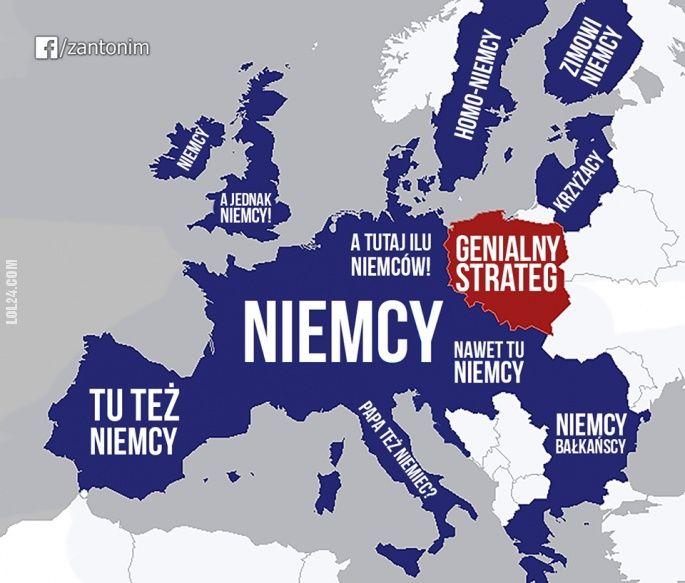 Jak PIS widzi Europę #PIS #Europa #mapa #Niemcy #GENIALNYSTRATEG