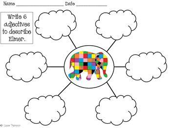 ELMER THE ELEPHANT MATH AND LITERACY INTEGRATED UNIT - TeachersPayTeachers.com = good ideas