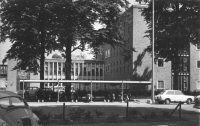 Het Centraal Dierenlaboratorium, van de Medische Faculteit, van het St. Radboud Ziekenhuis, 1969.