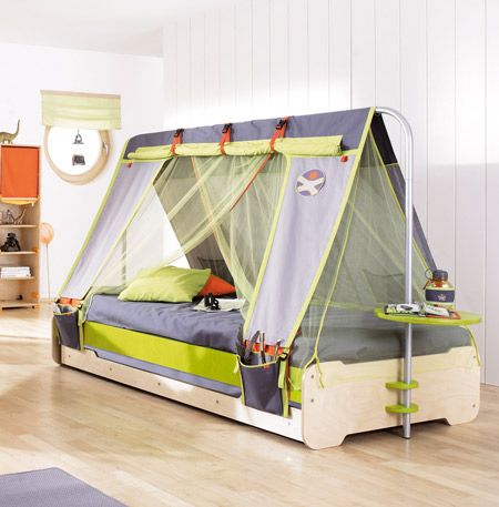 Superb Haba Terra Kids Bett Expedition mit viel Zubeh r Moskitonetz G stebett Tisch