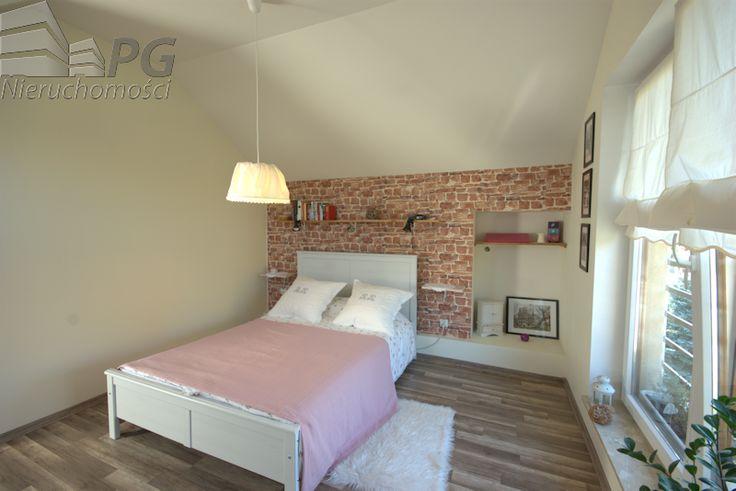 Sypialnia na poddaszu- mieszkanie Bielsko- Biała, dzielnica Kamienica