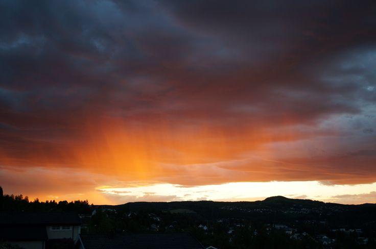 Himmelbrann over Gjøvik