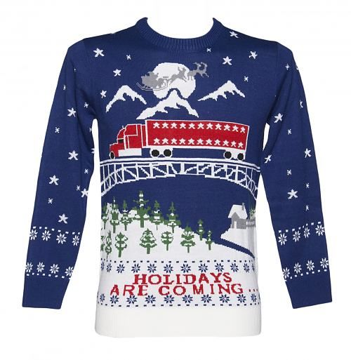Unisex Holidays Are Coming Christmas Jumper from Cheesy Christmas Jumpers : Main