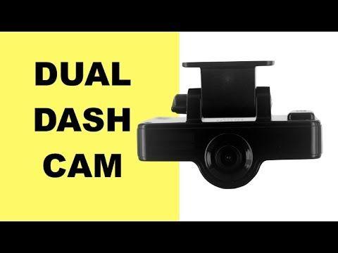 Dual Dash Car Camera with GPS Data Logger (FREE 8GB Memory Card) - YouTube