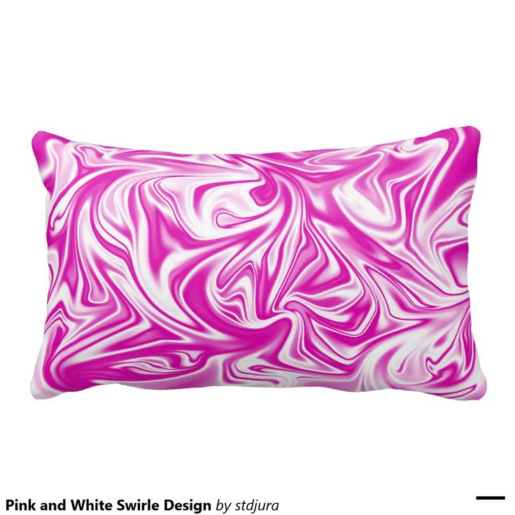 Pink and White Swirle Design Throw Pillow