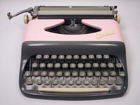 Pink Typewriter CONSUL Fully Working portable by MyAntiqueAttic