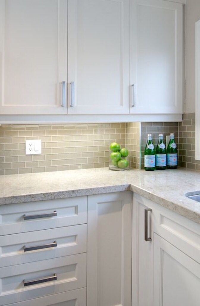 Laminate Kitchen Countertops With White Cabinets. Perfect Kitchen White  Shaker Cabinets Gray Subway BacksplashI Would Go With Different Colors But  I Like ...