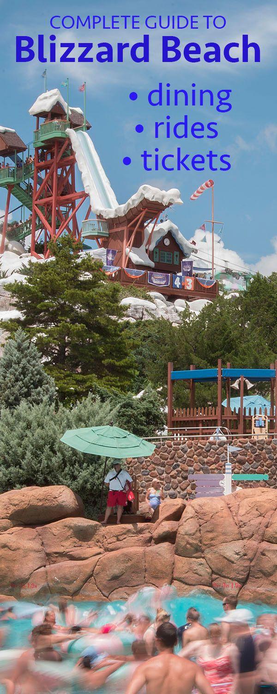 A complete guide to Disney's Blizzard Beach water park   ticket info, parking, dining, slides + MORE!   #disneyworld #disneyparks #blizzardbeach
