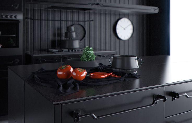 SLOON черный - ALNO. Современные кухни: дизайн и эргономика   PINWIN - конкурсы для архитекторов, дизайнеров, декораторов
