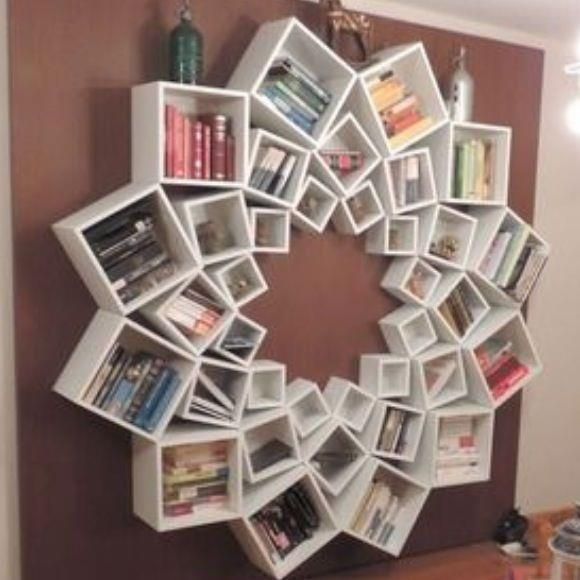 an awesomely creative use of IKEA boxes - imagine a mirror in the center!!!