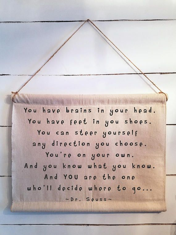 Custom Canvas Scroll Wall Art Dr Seuss Quote Housewares Homedecor Etsymktgtool Quote Canvas Wallart Canva Scroll Wall Art Dr Seuss Quotes Seuss Quotes