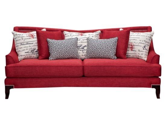 Paris Red Sofa Value City Furniture