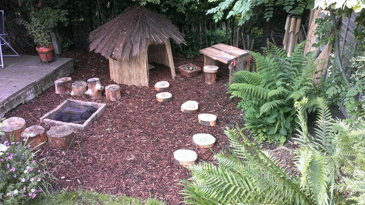Our Natural Children S Outdoor Play Area With Wooden Plank