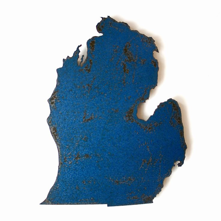 Detroit In World Map%0A Michigan map metal wall art        tall  choose your color  USA map state