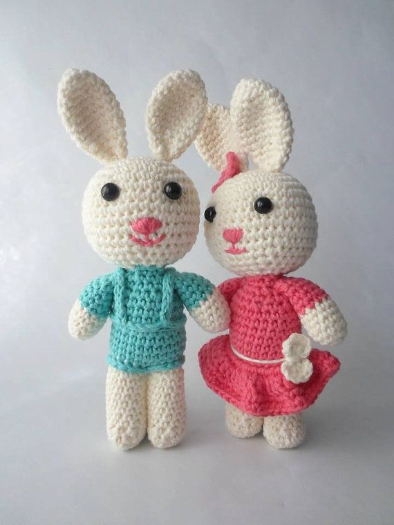 Bunny Amigurumi Crochet Stuffed Toy Animal