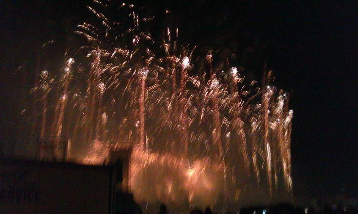 Fuochi d'artificio in Prato della Valle a ferragosto 2014 (4). #VivereArte #MichelaBusana