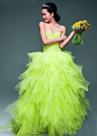 Lime green Dress So pretty!!