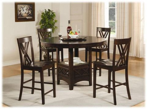 5 PC Sahara Cappuccino Counter Height Dining Table Set By True Contemporary At Wholesale Furniture Brokers Canada This Is A Stylishly Designed