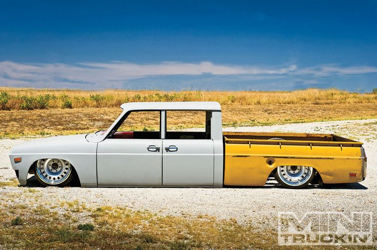 1973 #Ford Courier: Guilty As Charged - Read More: http://www.minitruckinweb.com/constructionzone/1301mt_construction_zone_1973_ford_courier/