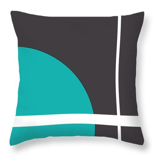 "Turquoise Throw Pillow (14"" x 14"") by Muge Basak.  Our throw pillows are made from 100% cotton fabric and add a stylish statement to any room.  Pillows are available in sizes from 14"" x 14"" up to 26"" x 26"".  Each pillow is printed on both sides (same image) and includes a concealed zipper and removable insert (if selected) for easy cleaning."