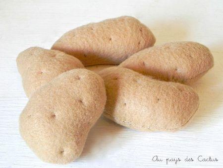 Aardappels van vilt