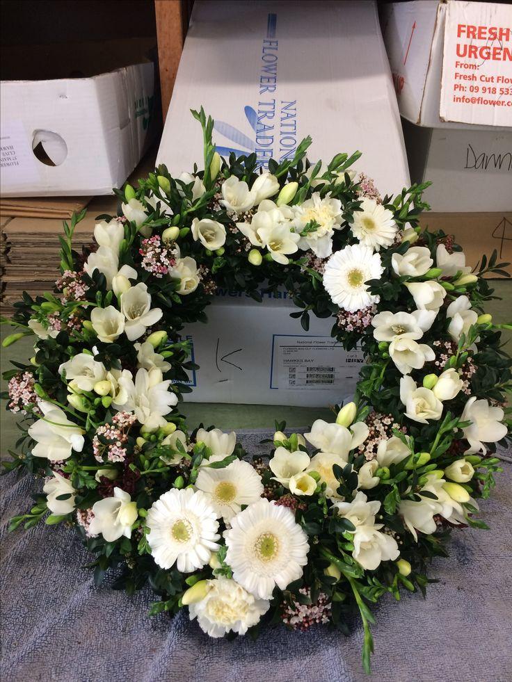 Wreath for a goodbye.