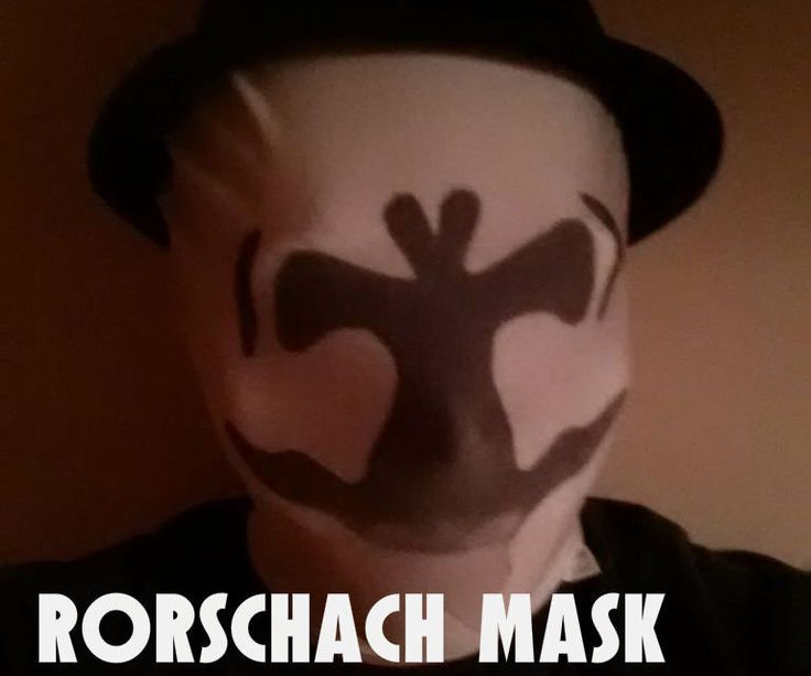 Use thermochromic paint to achieve a constantly shifting Rorschach mask.