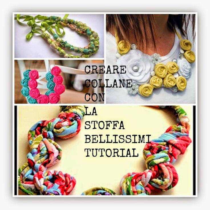 donneinpink: Creare bellissimi bijoux di stoffa-Collane fai da te Tutorial