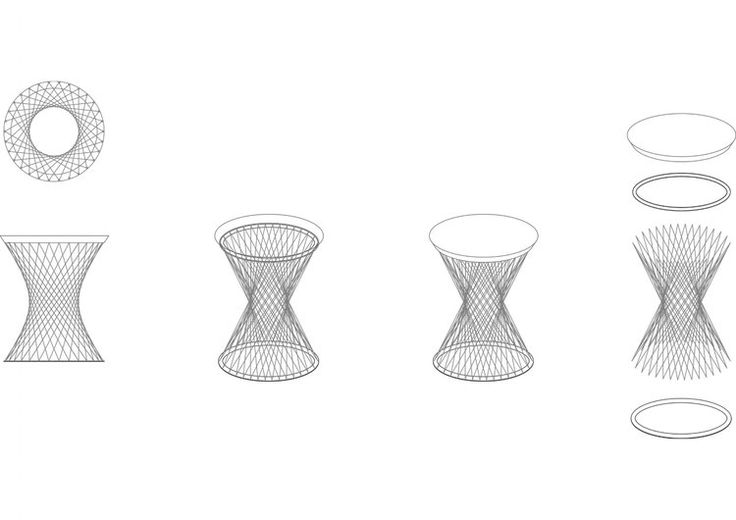 Mandala Wired Stool Diagram by Studio Deusdara - Product Design and Furniture